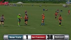 Women's, D1, Rd2, New York vs San Francisco
