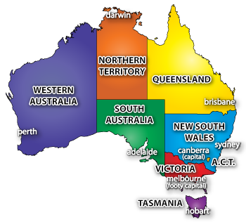 Australian state and territory flags - Introduction To Australian Football United States